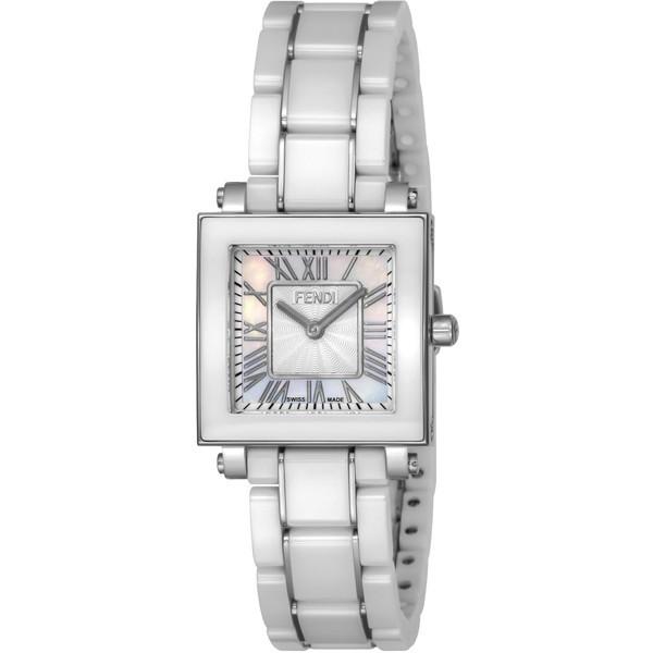 FENDI F622240B ホワイトパール クアドロ セラミック [クォーツ腕時計(レディースウオッチ)] 【並行輸入品】