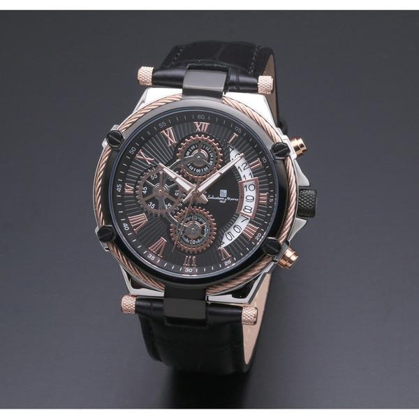 【送料無料】Salvatore Marra SM18102-PGBK [クォーツ腕時計(メンズ)]