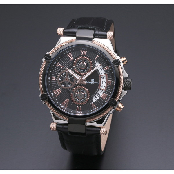Salvatore Marra SM18102-PGBK [クォーツ腕時計(メンズ)]