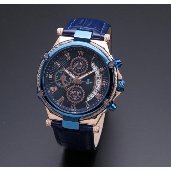 【送料無料】Salvatore Marra SM18102-PGBL [クォーツ腕時計(メンズ)]