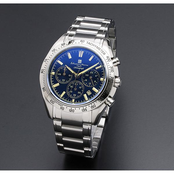 【送料無料】Salvatore Marra SM18106-SSBLSV [クォーツ腕時計(メンズ)]