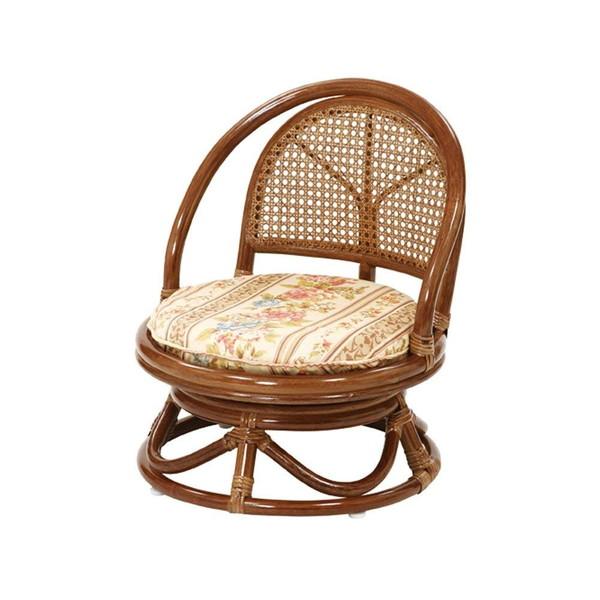 【送料無料】サンフラワーラタン ラタン コンパクト回転座椅子 ミドルタイプ C401HRJ【同梱配送不可】【代引き不可】【沖縄・北海道・離島配送不可】