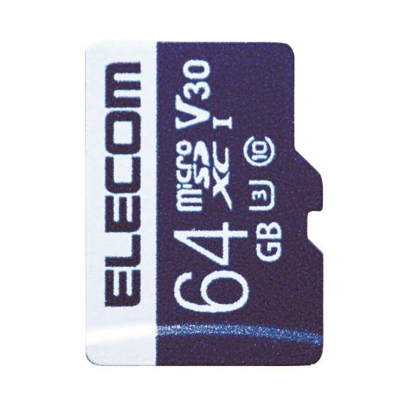 【送料無料】ELECOM MF-MS064GU13V3R MicroSDXCカード データ復旧サービス付 ビデオスピードクラス対応 UHS-I U3 80MB s 64GB【同梱配送不可】【代引き不可】【沖縄・離島配送不可】