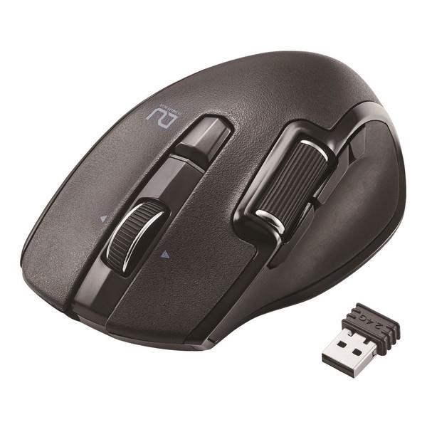 【送料無料】ELECOM M-DWM01DBBK ブラック DUALシリーズ[ハードウェアマクロ搭載マウス サイドホイール Mサイズ 無線 6ボタン]