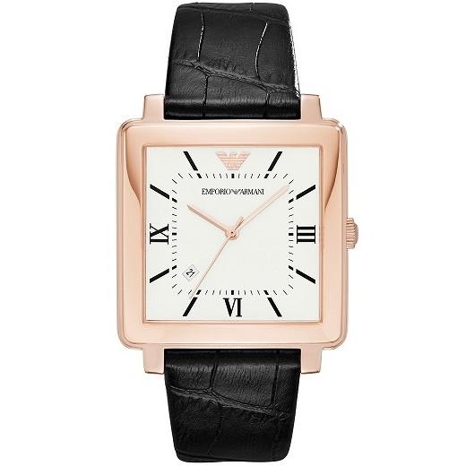 【送料無料】EMPORIO ARMANI(エンポリオ・アルマーニ) AR11075 ホワイト×ブラック MODERN SQUARE(モダン スクエア) [クォーツ腕時計(メンズウオッチ)]【並行輸入品】