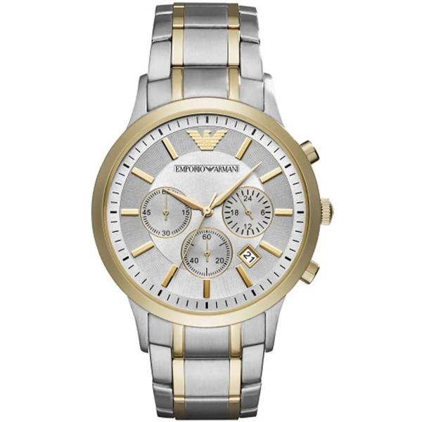 【送料無料】EMPORIO ARMANI(エンポリオ・アルマーニ) AR11076 シルバー×ゴールドシルバー renato(レナト) [クォーツ腕時計(メンズウオッチ)]【並行輸入品】