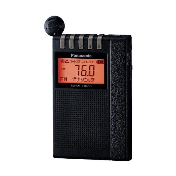 PANASONIC RF-ND380R ブラック [ワイドFM/AM 2バンド通勤ラジオ]