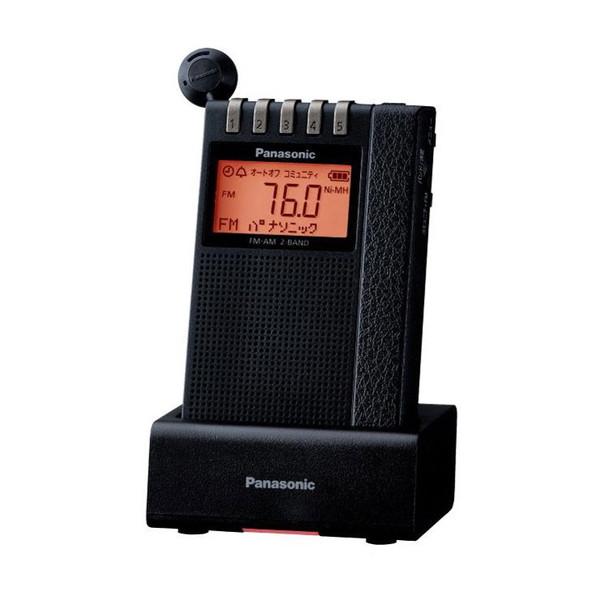 PANASONIC RF-ND380RK ブラック [ワイドFM/AM 2バンド通勤ラジオ(充電台付属)]