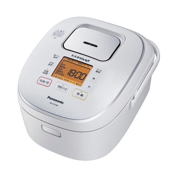 【送料無料】PANASONIC SR-HX108 スノーホワイト 大火力おどり炊き [IH炊飯器(5.5合炊き)]