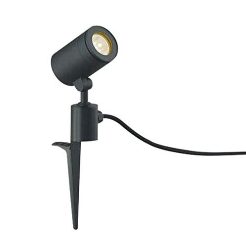 【送料無料】コイズミ AU43682L ブラック [LEDスポットライト(スパイク式 JDR50W相当 電球色/570lm)]