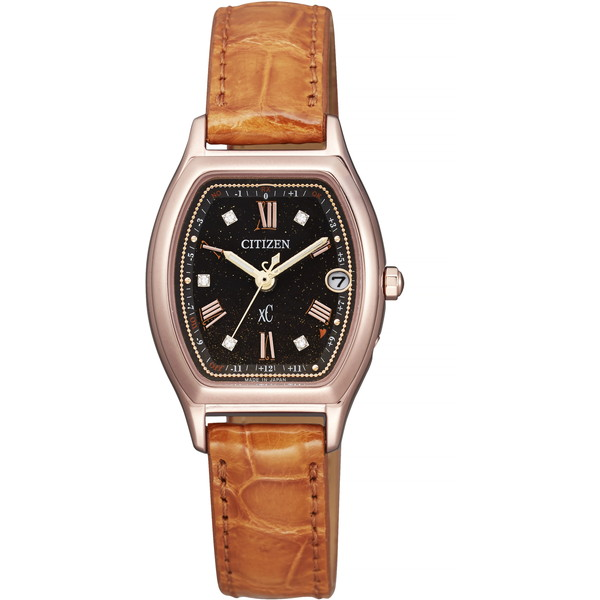 【送料無料】CITIZEN(シチズン) ES9352-13E XC ティタニア ライン ハッピーフライト エコ・ドライブ電波時計 100周年記念限定モデル [ソーラー充電式腕時計(レディース)]