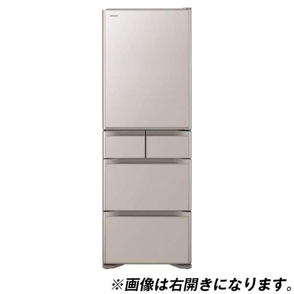 【送料無料】日立 R-S50JL(XN) クリスタルシャンパン 真空チルド [冷蔵庫 (501L・左開き)]