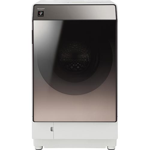 【送料無料】洗濯機 シャープ SHARP ES-U111-TR 白 ホワイト ブラウン おしゃれ スタイリッシュ 右開き 洗濯11kg 乾燥6kg 超音波ウォッシャー搭載