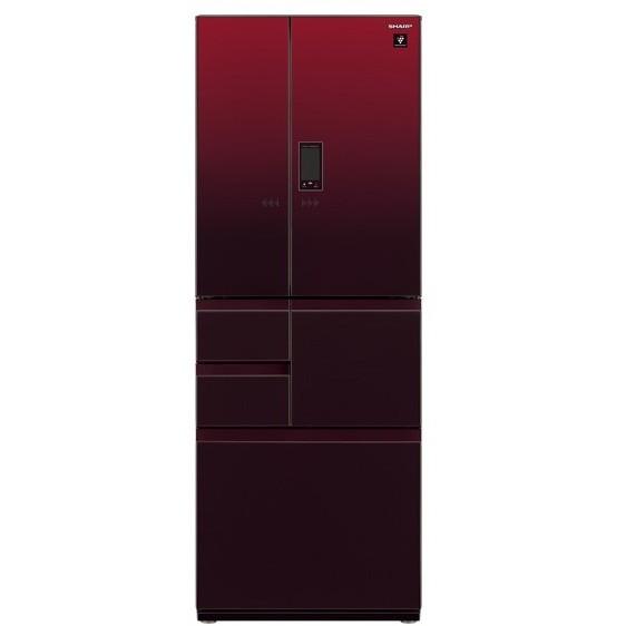【送料無料】SHARP SJ-GX55E-R グラデーションレッド [冷蔵庫 (551L・フレンチドア)]