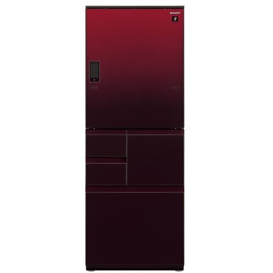 【送料無料】SHARP SJ-WX50E-R グラデーションレッド [冷蔵庫 (502L・左右フリー)] 【代引き・後払い決済不可】【離島配送不可】