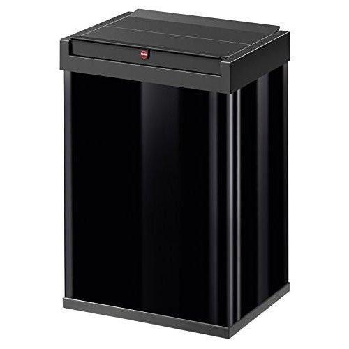送料無料 Hairo ハイロ ゴミ箱 ごみ箱 ダストボックス ニュービッグボックス40L 40リットル 黒 ブラック 屋外 スリム ふた付き キッチン ステンレス おしゃれ スタイリッシュ 角型 大容量 スチール ドイツ製