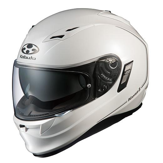 【送料無料】OGK KABUTO KAMUI2 パールホワイト M [バイク用 フルフェイスヘルメット]