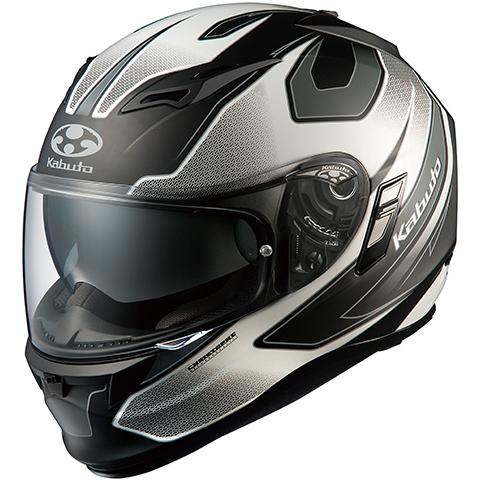 【送料無料】OGK KABUTO KAMUI2 STINGER フラットブラックホワイト M [フルフェイスヘルメット (オンロード用)]