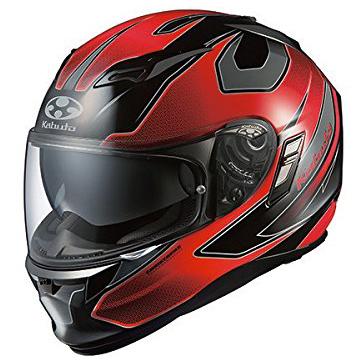【送料無料】OGK KABUTO KAMUI2 STINGER ブラックレッド L [フルフェイスヘルメット (オンロード用)]