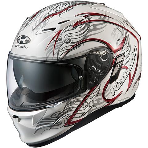 【送料無料】OGK KABUTO KAMUI2 TRIRUG パールホワイトレッド XL [フルフェイスヘルメット (オンロード用)]
