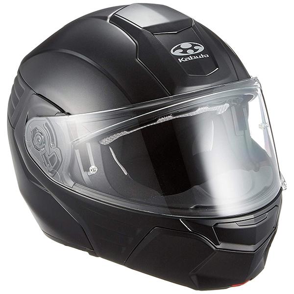 【送料無料】OGK KABUTO KAZAMI フラットブラック M [バイク用 システムヘルメット]