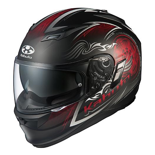 【送料無料】OGK KABUTO KAMUI 2 BLAZE フラットブラックレッド M [バイク用フルフェイスヘルメット]