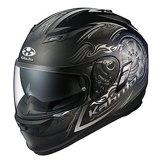 【送料無料】OGK KABUTO KAMUI 2 BLAZE フラットブラックシルバー XL [バイク用フルフェイスヘルメット]
