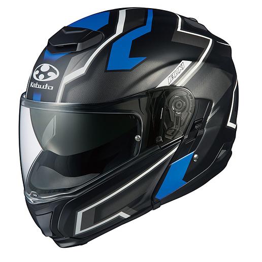 【送料無料】OGK KABUTO IBUKI DARK フラットブラックブルー M [バイク用システムヘルメット]