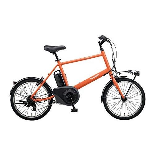 【送料無料】PANASONIC BE-ELVS07-K メタリックオレンジ ベロスター・ミニ [電動スポーツバイク(20×1.5HE・外装7段)]【同梱配送不可】【代引き不可】【本州以外配送不可】