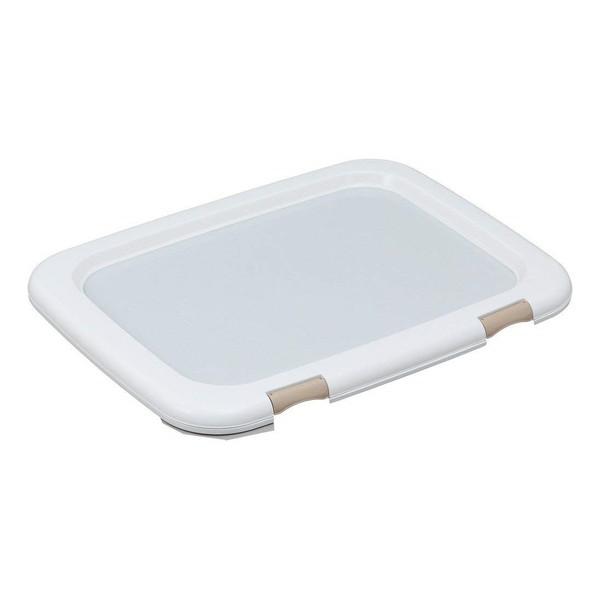 トイレシーツを固定できる 驚きの価格が実現 ペット用のトイレトレーです アイリスオーヤマ いよいよ人気ブランド FMT-635 ホワイト ワイドサイズ フチもれしにくいトレーニングペットトレー