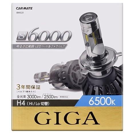 【送料無料】CAR MATE BW531 S6000シリーズ [LEDヘッド&フォグバルブ(6500K H4)]