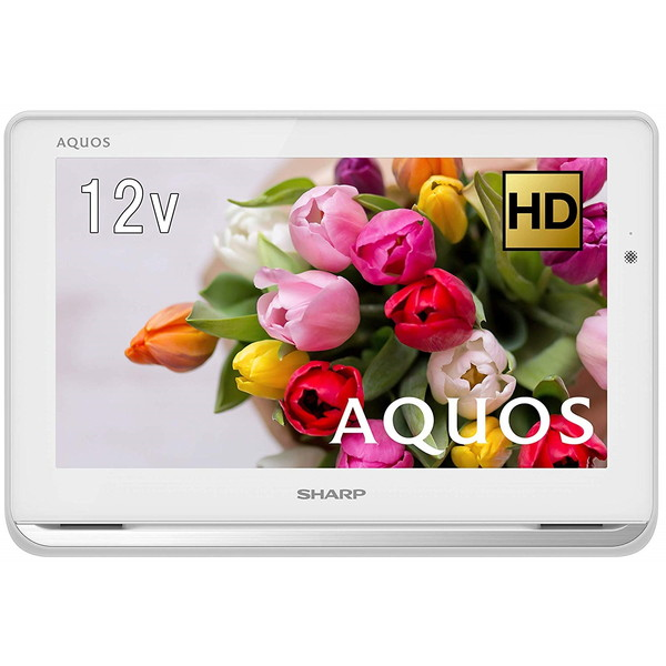 SHARP 2T-C12AP-W ホワイト系 AQUOSポータブル [12V型ポータブル地上・BS・110度CSデジタルハイビジョン液晶テレビ(500GB HDD内蔵録画対応)]