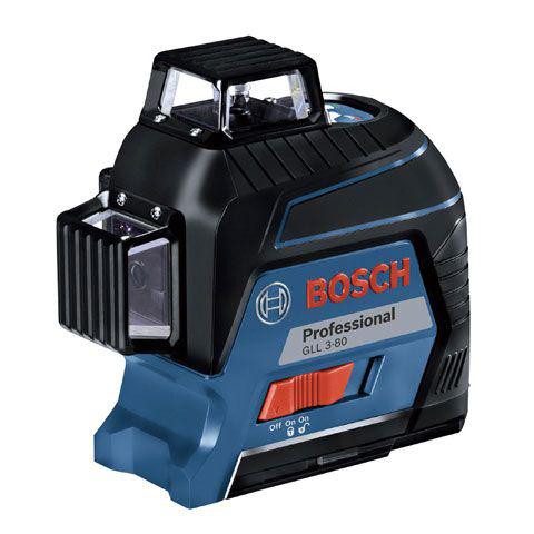 ボッシュ(BOSCH) GLL3-80KIT [レーザー墨出し器(ターゲットパネル+ポーチ+キャリングケース+ウォールマウント+受光器+受光器ホルダー付)]