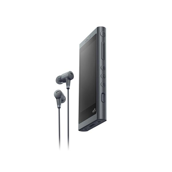 【送料無料】SONY NW-A55HN-B グレイッシュブラック Walkman(ウォークマン) A50シリーズ [ハイレゾ音源対応 ポータブルオーディオプレーヤー (16GB) IER-NW500N同梱モデル]