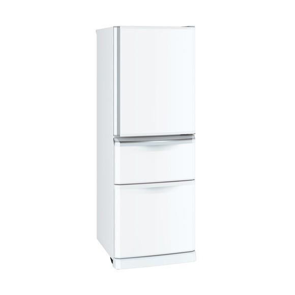 【送料無料】MITSUBISHI MR-C34D-W パールホワイト [冷蔵庫(335L・右開き)]