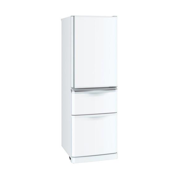 【送料無料】MITSUBISHI MR-C37D-W パールホワイト [冷蔵庫(370L・右開き)]