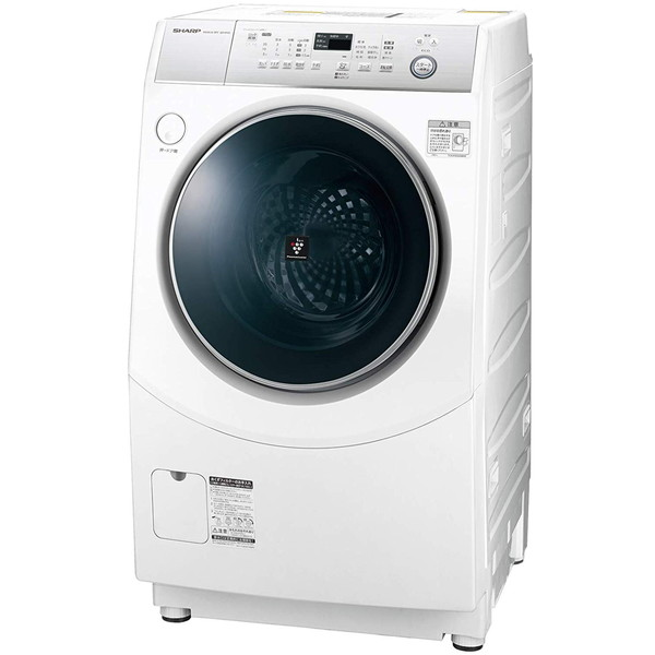 洗濯機 シャープ SHARP ES-H10C-WR 白 ホワイト ドラム式洗濯乾燥機 高圧洗浄 黄ばみ 頑固汚れ プラズマクラスター 静か ホームクリーニング