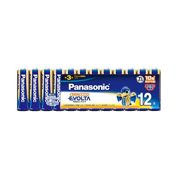 より長持ちで長時間保存できる乾電池 PANASONIC LR6EJ 付与 12SW エボルタ 誕生日プレゼント 12本パック 単3形アルカリ乾電池