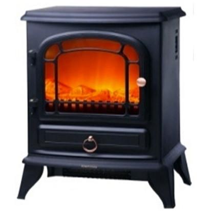 【送料無料】セラミックヒーター 暖炉 おしゃれ 電気 ヒロコーポレーション HF-2008BK ブラック 暖炉型ファンヒーター(1200W) 暖房