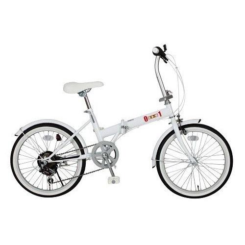 【送料無料】ミムゴ MG-ZRE206-WH ホワイト ZERO-ONE(ゼロワン) [折りたたみ自転車(20インチ・6段変速)] 【同梱配送不可】【代引き・後払い決済不可】【沖縄・北海道・離島配送不可】