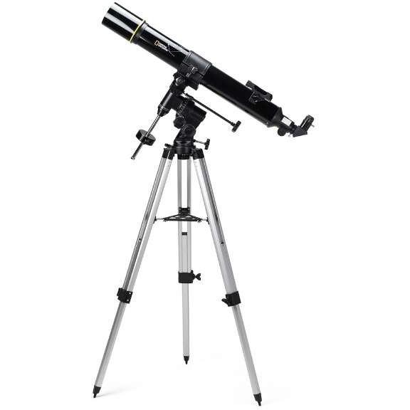 【送料無料】屈折式天体望遠鏡 (口径90mm赤道儀) ナショナルジオグラフィック 90-70000 初心者 小学生 子供 天体観測 星 惑星 理科