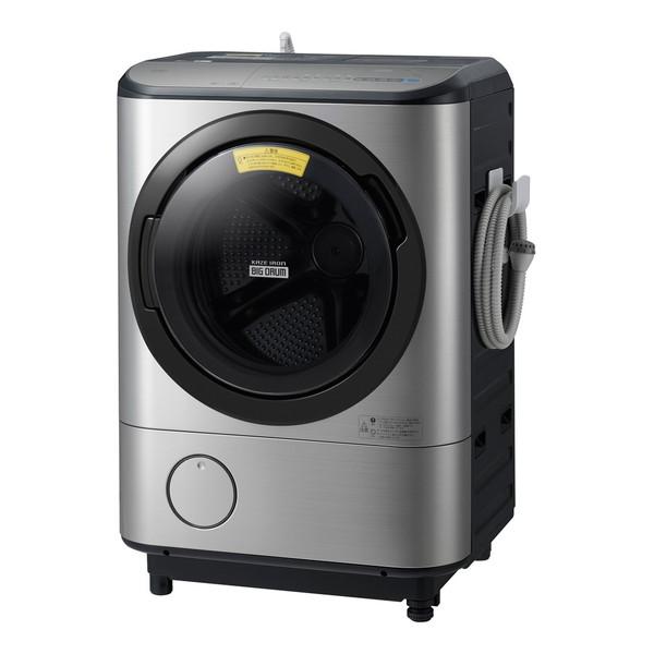 【送料無料】日立 BD-NX120CL ステンレスシルバー ヒートリサイクル 風アイロン ビッグドラム [ななめ型ドラム式洗濯乾燥機 (洗濯12.0kg/乾燥6.0kg) 左開き] 【代引き・後払い決済不可】【離島配送不可】