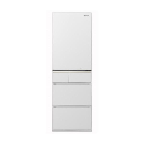 【送料無料】PANASONIC NR-E414GV-W スノーホワイト [冷蔵庫(406L・右開き)] 【代引き・後払い決済不可】【離島配送不可】
