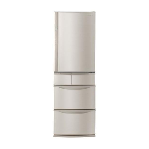 【送料無料】PANASONIC NR-E414V シャンパン [冷蔵庫(406L・右開き)] 【代引き・後払い決済不可】【離島配送不可】