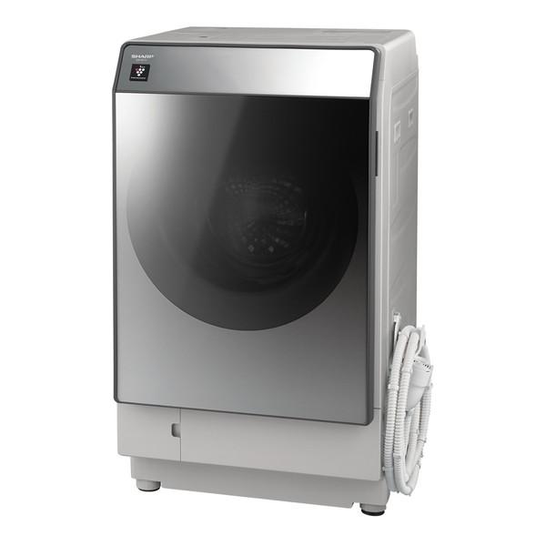 洗濯機 シャープ SHARP ES-W111-SL 白 ホワイト シルバー おしゃれ 乾燥フィルター自動お掃除 時短 超音波ウォッシャー 節電 無線LAN対応 スマートスピーカー連携 洗濯11kg 乾燥6kg 左開き