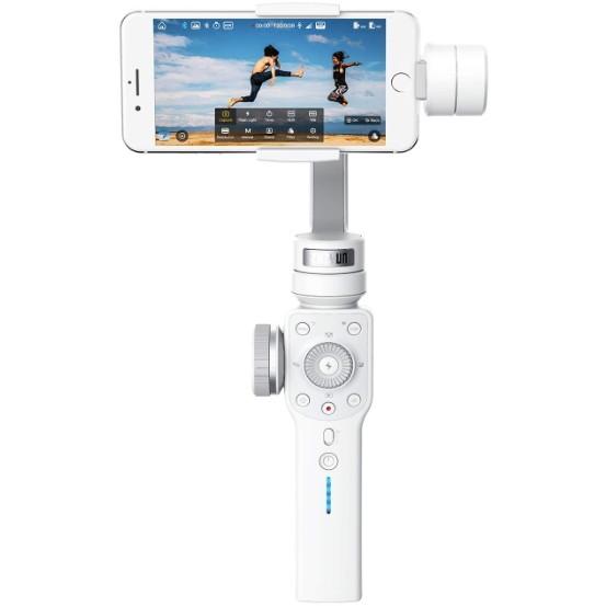【送料無料】 ジンバル ZHIYUN Smooth4-White ホワイト スマートフォン用 電動3軸 スタビライザー