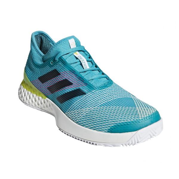 【送料無料】adidas(アディダス) F36721 adidas Tennis UBERSONIC 3 MULTICOURT ランニングホワイト×レジェンドインクF17×ショックイエローF18 255