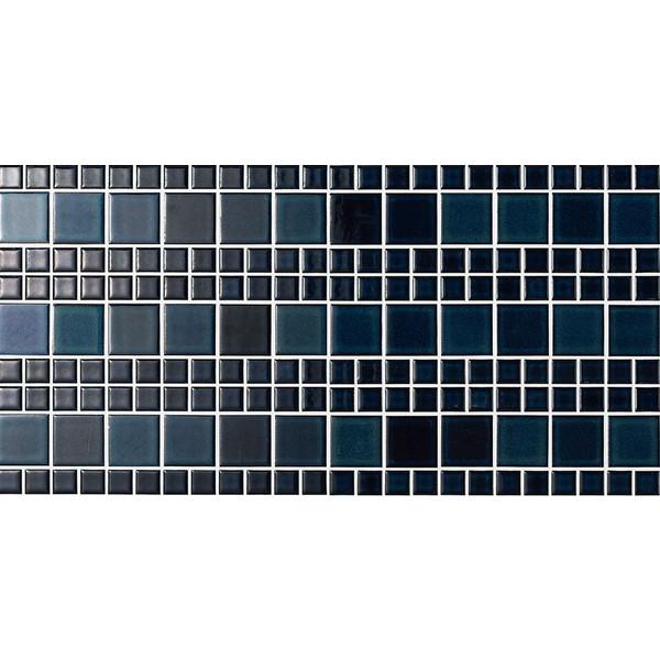 壁紙 シート おしゃれ タイル diy リクシル(LIXIL) SMTS-630/BYA-4 スマートモザイクシート インテリアモザイク 美釉彩(びゆうさい) [リフォーム向けタイル]