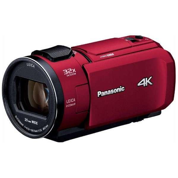 【送料無料】PANASONIC HC-VX1M-R レッド [デジタル4Kビデオカメラ (SD対応 64GBメモリー内蔵)]