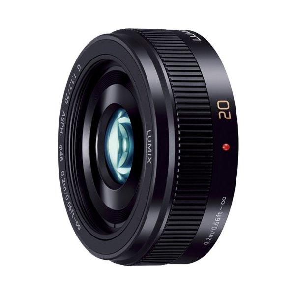 【送料無料】PANASONIC H-H020A-K ブラック LUMIX G 20mm/F1.7 II ASPH [マイクロフォーサーズ用レンズ]